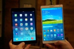 IPad mini and Samsung Galaxy