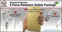 3 piece rf safe cell phone radiation safety package